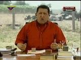 """Hugo Chávez: """"¡Vaya y lávese ese paltó, mister Danger! Mister Bush Aló Presidente 249, desde Elorza, estado Apure. 19 de marzo, 2006"""