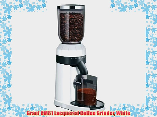 Graef CM81 Lacquered Coffee Grinder White