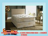 ORTHOPAEDIC DIVAN BED WITH 10 INCH TUFTED MATTRESS AND 2 DRAWER STORAGE - ALL SIZES AVAILABLE
