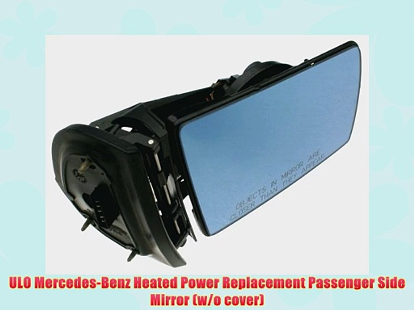 08-09 Taurus Power Non-Heat Folding Black Rear View Mirror Right Passenger Side