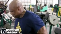 RONNIE COLEMAN - 2014 SHOULDERS WORKOUT AT WAREHOUSE GYM - Bodybuilding Muscle Fitness