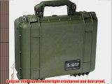 Pelican 1450 OD Green Equipment Case with Foam 13 x 16 x 6.88