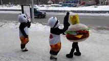 Baston de Mascottes, en mode Thug life, Pandas VS Hamburger!