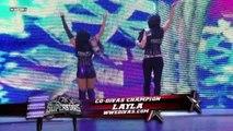 Kelly Kelly (w/ Natalya) vs. Layla (w/ Michelle McCool)