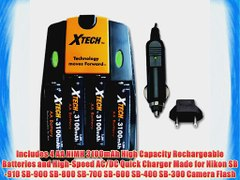 Xtech High Speed AC DC Charger plus 4 AA NiMH 3100