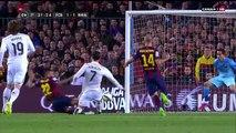 Barcelona derrotó 2 - 1 al  Real Madrid en el clásico del fútbol español