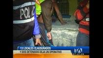13 locales clausurados y dos detenidos deja operativo en el sur de Quito