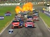 V8 Supercar explodes into flames at startline!!!
