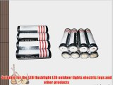 12Pcs TETC 18650 3.7V 6800mAh Lithium Ion Parallel Battery with dual Charger