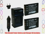 Wasabi Power Battery (2-Pack) and Charger for Samsung SLB-1037 SLB-1137 and Samsung Digimax