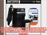 Battery And Charger Kit For Sony HDR-CX220 HDR-CX230 HDR-CX290 HDR-PJ230 HDR-CX380 HDR-PJ380