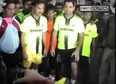 Dhoni Playing Football in Local Area Team