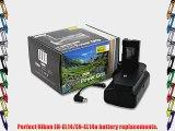Vivitar Battery Grip Kit for Nikon D3300 D3200 D3100 DSLR Cameras - Includes Vivitar Battery