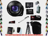 Sony DSC-QX30 DSC-QX30/B Smartphone Attachable Lens Style Camera with Sony 32GB microSDHC Card