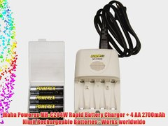 Maha Powerex MH C204W Rapid Battery Charger 4 AA 2