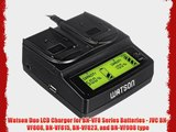 Watson Duo LCD Charger for BN-VF8 Series Batteries - JVC BN-VF808 BN-VF815 BN-VF823 and BN-VF908