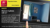 A vendre - maison - JONQUIERES SAINT VINCENT (30300) - 5 pièces - 100m²