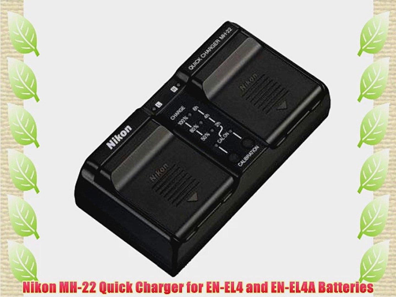 Nikon MH-22 Quick Charger for EN-EL4 and EN-EL4A Batteries