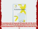 2 Pack Battery Kit For Canon EOS 7D Canon 60D EOS 70D EOS 5D Mark III EOS 7D Mark II EOS 5DS