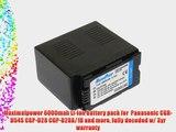 Maximalpower 6000mah Li-ion battery pack for  Panasonic CGR-D54S CGP-D28 CGP-D28A/1B and more