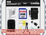8GB Accessory Kit For Canon PowerShot SX700 HS S95 SD4000 IS ELPH 500 HS SX600 HS D30 SX610