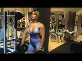 Webcam Muscle Girl Sexy Fitness Model Flexing Big Muscle Girls