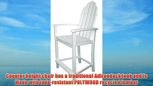 Fabulous Polywood Add201Wh Classic Adirondack Counter Chair White Customarchery Wood Chair Design Ideas Customarcherynet