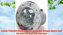 Pentair 77360300 Stainless Steel AquaLight Halogen Quartz Light 120-Volt 250-Watt 100-Feet