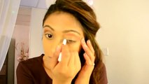 Blue Smokey Arabic Eyeshadow Make Up Tutorial Indian Bollywood | MaenaS Blog