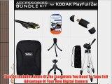 Accessories Bundle Kit For Kodak PlayFull Ze1 HD Video Camera (New Model) Includes Micro HDMI