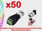 ArmorView? 50x CAT5 To Coax Coaxial Camera CCTV BNC TV Video Balun Cable Connector Adapter