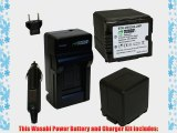 Wasabi Power Battery (2-Pack) and Charger for Panasonic VW-VBG260 and Panasonic AG-AC7 AG-AF100