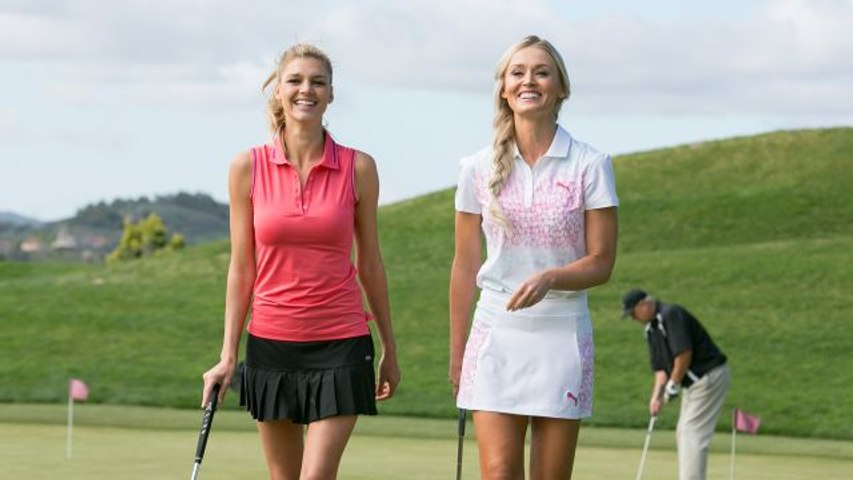 The Sexiest Shots in Golf - Skipping Balls Over Water With Kelly Rohrbach & Blair O'Neal