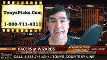 Washington Wizards vs. Indiana Pacers Free Pick Prediction NBA Pro Basketball Odds Preview 3-25-2015