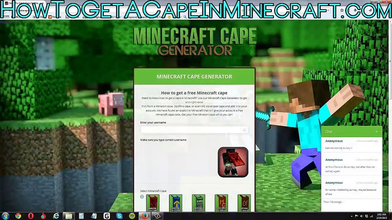 How To Minecraft DeveloperAny Cape FreeMineconOptifineMC A In Version Get 54RLA3jq