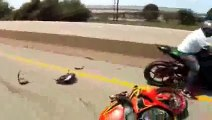 Motorcycle Accident DRIFTING Crash On Highway Honda CBR1000RR Drift Gymkhana Bike Drifts Video 2014