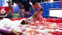 Russian Girl VS Ukrainian Girl - Pillow Fight & Wrestling - New York - 2014