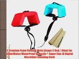 2 Premium Foam Floating Wrist Straps (1 Red 1 Blue) for UnderWater/WaterProof Cameras   Super