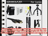 All In Accessory Kit For Canon PowerShot SX500 IS SX510 HS SX520 HS SX530 HS Digital Camera