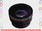 Wide Angle Lens Accessory Kit includes 0.43X Wide Angle FishEye High Definition Lens   Adapter