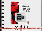Kingston 8GB Class 4 Micro SDHC Memory Card SDC4/8GB (Pack of 10)
