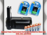 Maximal Power Replacement Battery Grip Combo for Nikon D40  D40X D60 and D5000