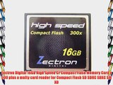 Zectron High Speed 16GB Compact Flash High Speed Memory Card with reader for Canon EOS-10D