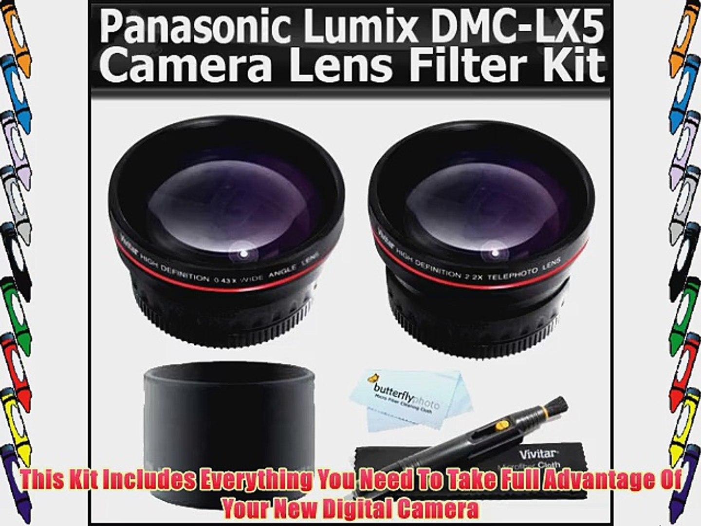 Panasonic Lumix DMC-LX5 0.21x-0.22x High Grade Fish-Eye Lens Nwv Direct Micro Fiber Cleaning Cloth Includes Lens Adapter /& Ring