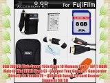 8GB Accessories Kit For Fuji Fujifilm FinePix XP60 XP70 Waterproof Digital Camera Includes