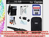 16GB Accessories Kit For Canon Powershot Elph 110 HS Elph 320 HS Digital Camera Includes 16GB