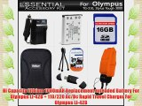 16GB Accessories Kit For Olympus Tough TG-320 TG-310 Stylus 3000 Digital Camera Includes 16GB