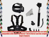 KUPTON 9 in 1 GoPro Accessories kit Set include Elastic Adjustable Head Strap   Adjustable