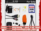 8GB Accessories Kit For Sony Cyber-shot DSC-TX20 Waterproof Digital Camera Includes 8GB High