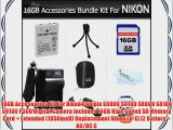 16GB Accessories Kit For Nikon Coolpix S6000 S6100 S8000 S8100 S9100 P300 Digital Camera Includes